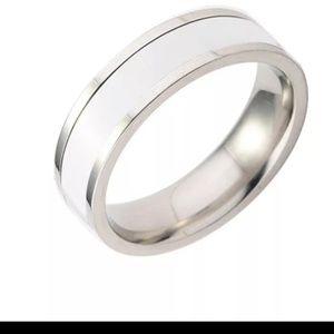 GORGEOUS CERAMIC WEDDING RING SIZE 13